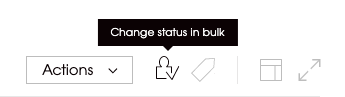 Image showing icon which is used to change the prospect's status in bulk