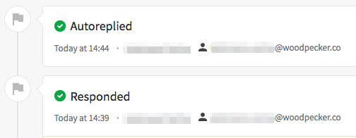 Image showing in Pipedrive how prospect's statues changes in Woodpecker