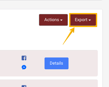 Image pointing to 'Export' option from Leadpresso