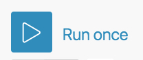 Image of the 'Run once' button in Integromat