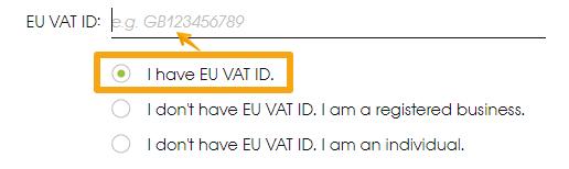 EU VAT ID option 1