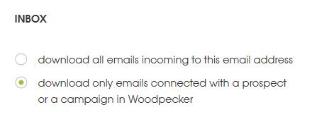 Inbox settings